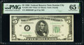 Small Size:Federal Reserve Notes, Fr. 1961-J* $5 1950 Wide I Federal Reserve Star Note. PMG Gem Uncirculated 65 EPQ.. ...