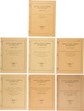 Explorers:Space Exploration, NACA: Rare Collection of Seven Early NACA Technical Note Manuals Dated from June 1947 to February 1955. ...