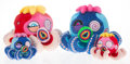 Collectible, Takashi Murakami (b. 1962). Blue Octopus: Mr. Camo and Red Octopus Mr. Boiled (Regular and Mini) (set of 4), c. 2017... (Total: 4 Items)