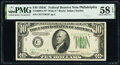Small Size:Federal Reserve Notes, Fr. 2008-C* $10 1934C Wide Federal Reserve Star Note. PMG Choice About Unc 58 EPQ.. ...