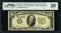 Fr. 2004-B* $10 1934 Light Green Seal Federal Reserve Star Note. PMG Very Fine 20