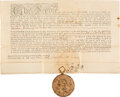 Autographs:Statesmen, George Clinton Land Grant Signed as Governor of New York. ...