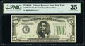 Fr. 1957-B*; G* $5 1934A Federal Reserve Star Notes. PMG Graded Choice Very Fine 35; Extremely Fine 40 EPQ. ... (Total:...