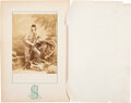 Photography:Cabinet Photos, George Armstrong Custer: Albumen Photograph by Scholten with Original Tissue Paper. ...