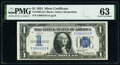 Small Size:Silver Certificates, Fr. 1606 $1 1934 Silver Certificate. PMG Choice Uncirculated 63.. ...