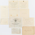 Political:Small Paper (pre-1896), Presidents & Royalty: Assorted Invitations [1860-1901]....