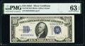 Small Size:Silver Certificates, Fr. 1704 $10 1934C Silver Certificate. PMG Choice Uncircul...