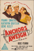 """Movie Posters:Musical, Anchors Aweigh (MGM, 1945). Folded, Fine. Australian One Sheet (27"""" X 40""""). Musical.. ..."""