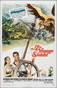 """The 7th Voyage of Sinbad & Other Lot (Columbia, R-1975). Folded, Overall: Fine/Very Fine. One Sheets (2) (27"""" X..."""