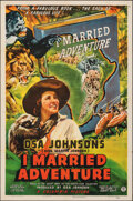 "Movie Posters:Adventure, I Married Adventure (Columbia, 1940). Folded, Very Fine. One Sheet (27"" X 41"") Glenn Cravath Artwork. Adventure.. ...."