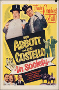 """Movie Posters:Comedy, In Society (Realart, R-1953). Folded, Fine+. One Sheet (27"""" X 41""""). Comedy.. ..."""