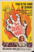 """Movie Posters:Horror, The Devil's Hand & Other Lot (Crown International, 1961). Folded, Overall: Very Fine-. One Sheets (2) (27"""" X 41""""). Horror.. ... (Total: 2 Items)"""
