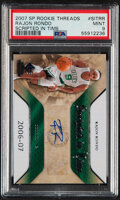 Basketball Cards:Singles (1980-Now), 2007 SP Rookie Threads Rajon Rondo Scripted in Time Autogr...