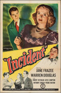 """Movie Posters:Crime, Incident (Monogram, 1948). Folded, Fine+. One Sheet (27"""" X 41""""). Crime.. ..."""