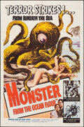 """Movie Posters:Science Fiction, Monster from the Ocean Floor (Lippert, 1954). Folded, Very Fine-. One Sheet (27"""" X 41""""). Science Fiction.. ..."""