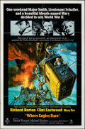 """Movie Posters:War, Where Eagles Dare (MGM, 1968). Folded, Very Fine-. One Sheet (27"""" X 41"""") Style A, Frank McCarthy Artwork. War.. ..."""