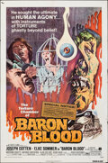 "Movie Posters:Horror, Baron Blood (American International, 1972). Folded, Fine. One Sheet (27"" X 40.75""). Horror.. ..."