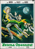 """Movie Posters:Science Fiction, The Green Slime (MGM, 1969). Folded, Fine/Very Fine. Serbian Poster (19.5"""" X 27.75"""") & German A1 (23"""" X 33""""). Science Fictio... (Total: 2 Items)"""