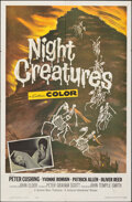 """Movie Posters:Horror, Night Creatures (Universal International, 1962). Folded, Very Fine-. One Sheet (27"""" X 41""""). Horror.. ..."""