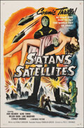 """Movie Posters:Science Fiction, Satan's Satellites (Republic, 1958). Folded, Fine/Very Fine. One Sheet (27"""" X 41""""). Science Fiction.. ..."""