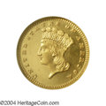 Proof Gold Dollars: , 1887 G$1 PR64 Cameo NGC. Sparkling yellow-gold mirrors ...