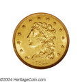 Classic Quarter Eagles: , 1839-O $2 1/2 MS61 NGC. High Date, Wide Fraction, Breen-...