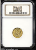 Liberty Quarter Eagles: , 1906 $2 1/2 MS65 NGC. The thick, satiny luster is nearly ...