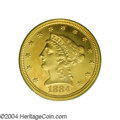 Proof Liberty Quarter Eagles: , 1884 $2 1/2 PR63 PCGS. A rare issue as only 73 proofs ...