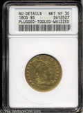 Early Half Eagles: , 1805 $5 --Plugged, Tooled, Whizzed--ANACS. AU Details, Net ...