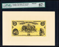 World Currency, Canada Toronto, ON- Bank of Toronto $5 2.1.1935 Ch.# 715-24-02fp; bp Front and Back Proofs PMG Superb Gem Unc 67 EPQ; ... (Total: 2 notes)