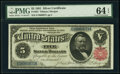 Large Size:Silver Certificates, Fr. 267 $5 1891 Silver Certificate PMG Choice Uncirculated...