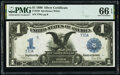 Large Size:Silver Certificates, Low Serial T70A Fr. 236 $1 1899 Silver Certificate PMG Gem...