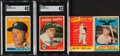 Basketball Cards:Lots, 1958-59 Topps Mickey Mantle Quartet (4). ...