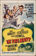 """Movie Posters:Comedy, In the Navy (Realart, R-1948). Folded, Fine-. One Sheet (27"""" X 41""""). Comedy.. ..."""