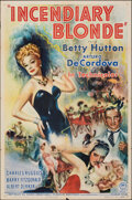 """Movie Posters:Musical, Incendiary Blonde (Paramount, 1945). Folded, Very Fine-. One Sheet (27"""" X 41""""). Musical.. ..."""