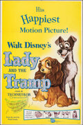 "Movie Posters:Animation, Lady and the Tramp & Other Lot (Buena Vista, R-1962). Folded, Very Fine-. One Sheets (2) (27"" X 41""). Animation.. ... (Total: 2 Items)"