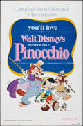 """Movie Posters:Animation, Pinocchio & Other Lot (Buena Vista, R-1978). Folded, Very Fine. One Sheets (2) (27"""" X 41""""). Animation.. ... (Total:..."""