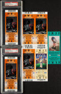 Football Collectibles:Tickets, 2002-06 Super Bowl Full Tickets, Lot of 7. Offered...