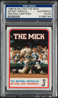 """Autographs:Sports Cards, Signed 1986 Mickey Mantle """"The Mick"""" B. Dalton Trading Card PSA/DNA Authentic. ..."""
