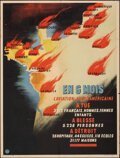 """Movie Posters:War, World War II Propaganda (Information from the State of France, 1943). Folded, Very Fine-. French Poster (31"""" X 41.5"""") """"In 6 ..."""