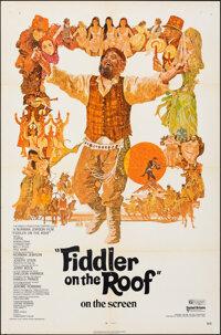 """Fiddler on the Roof (United Artists, 1971). Folded, Fine/Very Fine. One Sheet (27"""" X 41"""") Ted Coconis Artwork..."""