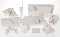 Daniel Arsham (b. 1980) Future Relic Complete Excavation Set (set of 9), 2013-2018 Plaster with crushed glass 3-3/8 x...