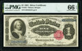 Large Size:Silver Certificates, Fr. 223 $1 1891 Silver Certificate PMG Gem Uncirculated 66...