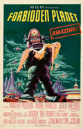 """Movie Posters:Science Fiction, Forbidden Planet (MGM, 1956). Fine on Linen. Autographed One Sheet (27"""" X 41"""").. ..."""