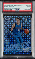 Basketball Cards:Singles (1980-Now), 2019 Panini National Convention Luka Doncic (Rookies - Pyramids) #RC21 PSA Mint 9 - #'d 9/10....