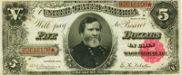Fr. 362 $5 1891 Treasury Note PMG Uncirculated 62