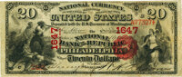 Philadelphia, PA - $20 1875 Fr. 431 The National Bank of the Republic Ch. # 1647 PMG Very Fine 30.<