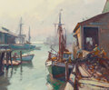 Paintings, Emile Albert Gruppe (American, 1896-1978). Hauling The Nets. Oil on canvas. 25 x 30 inches (63.5 x 76.2 cm). Signed lowe...