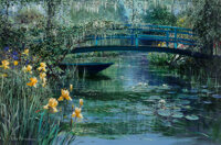 Peter Ellenshaw (American/British, 1913-2007) Bridge at Giverny, 1985 Oil on canvas 24 x 36 inche