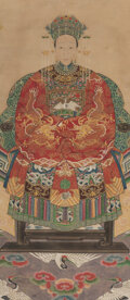 Works on Paper, A Chinese Ancestor Painting 35-1/2 x 15-1/2 inc...